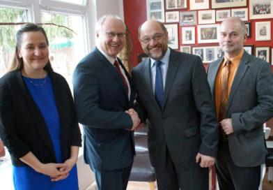 Teltow: Martin Schulz zu Besuch im Familienzentrum Philantow