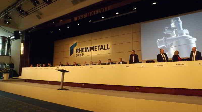 Die Hauptversammlung der Düsseldorfer Rheinmetall AG in Berlin am 9. Mai 2017