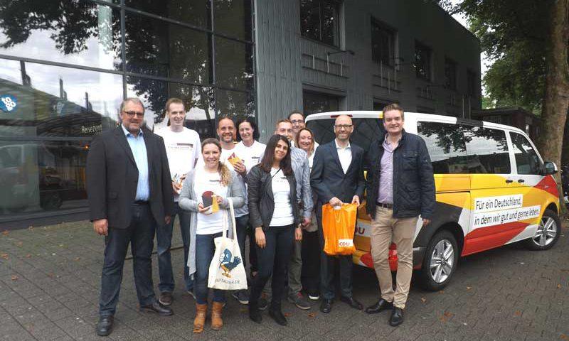 CDU-Generalsekretär Tauber auf Wahlkampftour