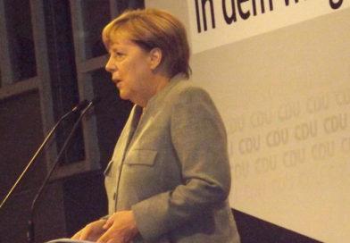 Bundeskanzlerin Merkel gut gelaunt auf Wahlkampftour