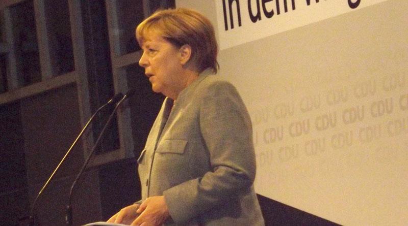 Bundeskanzlerin Merkel auf Wahlkampftour