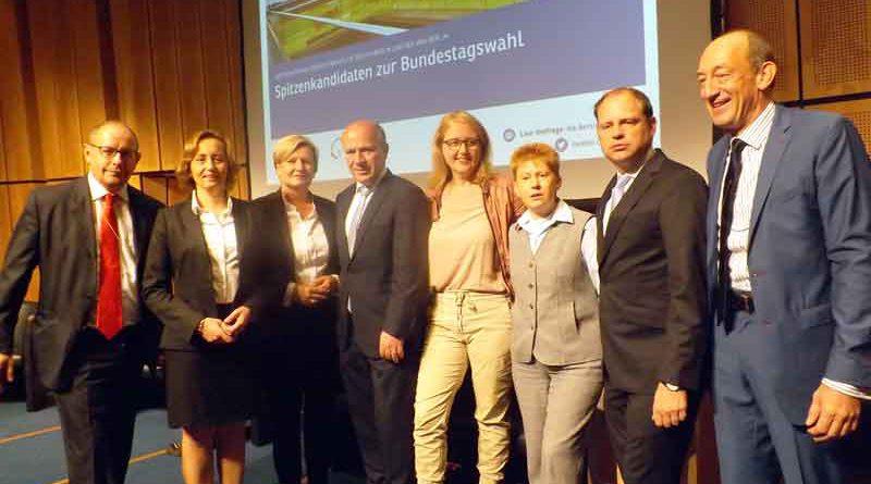Auf Einladung der Berliner IHK und des VBKI kamen am 6. September die Berliner Spitzenkandidaten der Parteien zu Elefantenrunde ins Ludwig-Erhard-Haus.