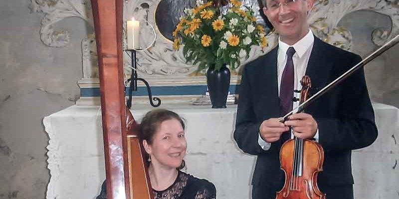 Rätselkonzert mit Violine und Harfe @ Bürgerhaus
