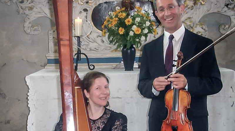 Beim Rätselkonzert von Wolfgang Pfau (Violine) und Dagmar Flemming (Konzertharfe) am 27. September können die Zuhörer selbst die Werke errätseln.