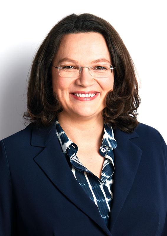 SPD-Fraktionsvorsitzende Andrea Nahles/Foto: Susie Knoll