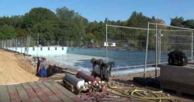 Video: Sanierung im Freibad Kiebitzberge gestartet