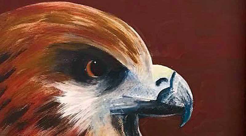 """Seit 2005 besteht in Kleinmachnow die Gruppe der Montagsmalerinnen unter der Leitung von Katharina von Baibus. Arbeiten der Gruppe sind vom 5. Juli bis 30. August 2018 im Foyer des Rathauses unter dem Titel """"Alle Vögel sind schon da zu sehen""""."""