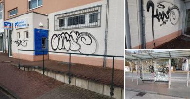 Graffiti Busbahnhof Stahnsdorf