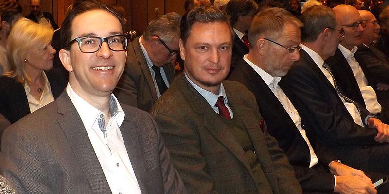 Florian Swyter, MdA (li.) und Frank-Christian Hansel, MdA
