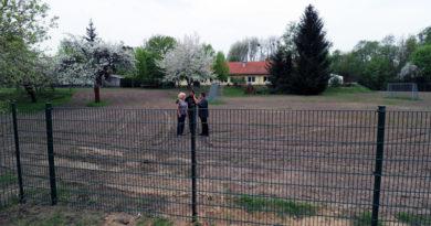 Wildschutzzaun rund um das Familienzentrum ClaB in Stahnsdorf