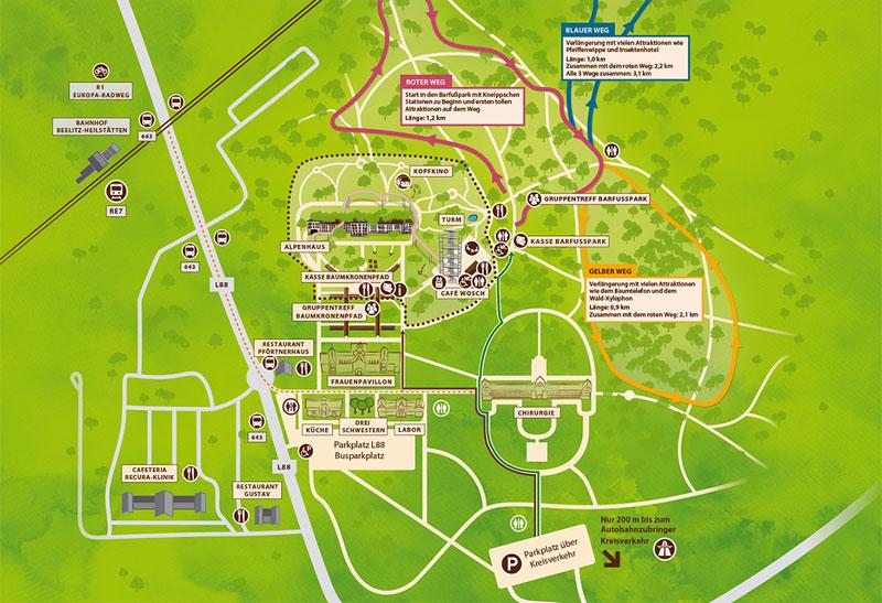 Geländeplan Beelitz-Heilstätten