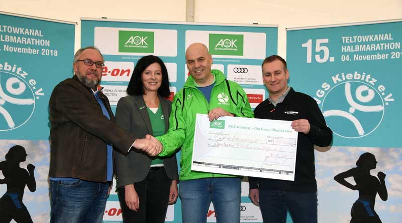 Mit einem Teil der Startgebühren unterstützen die Veranstalter in diesem Jahr die Deutsche Parkinsonhilfe. Auch Parkinson-Betroffene nahmen am Lauf teil.