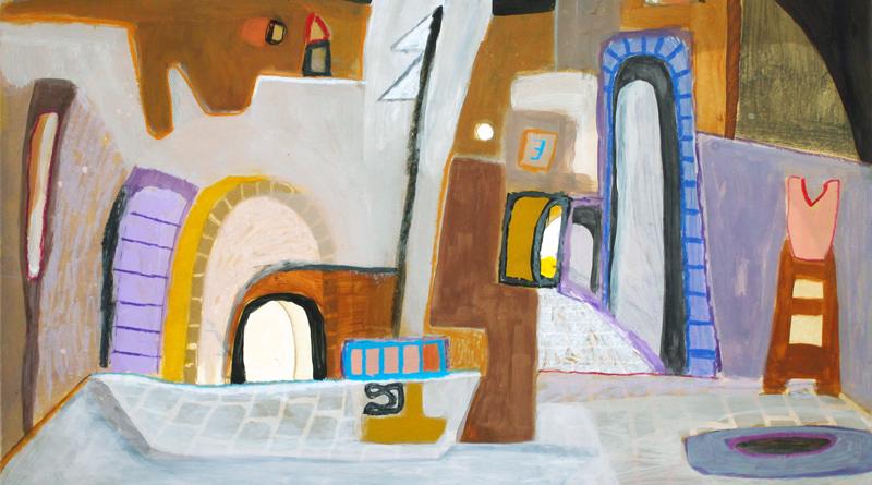 """Der Potsdamer Künstler Conrad Panzer wird morgen am 12. September um 19:00 Uhr seine Ausstellung """"Spurensicherung"""" im Foyer des Kleinmachnower Rathauses mit einer Vernissage eröffnen, die der Kleinmachnower Maler Rainer Ehrt und Matthias Bauer auf dem Kontrabass begleiten"""