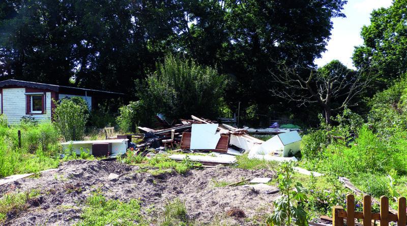 Müll in Teltower Ex-Kleingärten